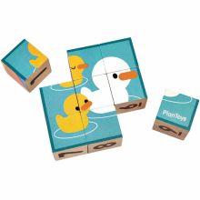 Apprendre à compter puzzle cubes (9 pièces)  par Plan Toys