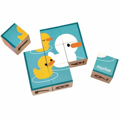 Apprendre à compter puzzle cubes (9 pièces) Plan Toys