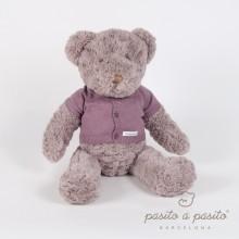 Peluche géante ours Max pull bordeaux (50 cm)   par Pasito a pasito
