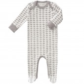 Pyjama léger Feuille gris (6-12 mois : 67 à 74 cm) - Fresk