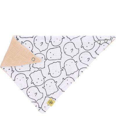 Bavoir bandana en mousseline de coton Little Spookies pêche  par Lässig