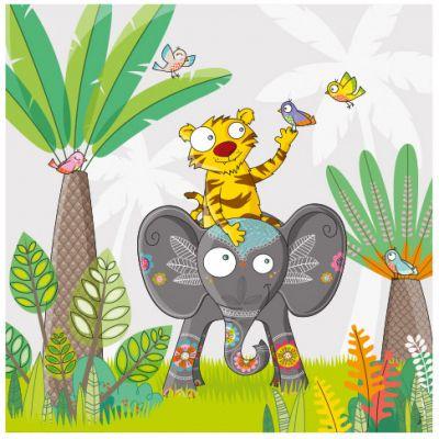 Tableau à dos d'éléphant (59 x 59 cm)  par Série-Golo