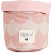 Panier de toilette Mambo Ecaille rose clair (25 x 26 cm) - Nobodinoz