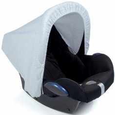 Capote pour siège auto groupe 0 Petite Etoile vichy bleu
