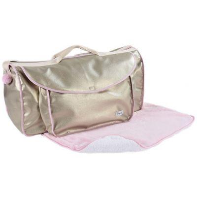 Grand sac à langer Beryl rose  par Nougatine