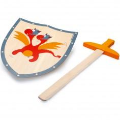 Epée et bouclier Dragon rouge