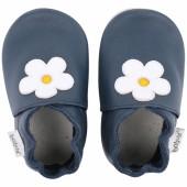 Chaussons en cuir Soft soles bleu marine Mary Quant (9-15 mois) - Bobux