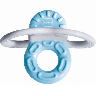 Mini-anneau de dentition phase 1 bleu + boîte stérilisation  par MAM