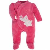 Pyjama chaud Anna et Pili rose framboise (naissance : 50 cm) - Noukie's