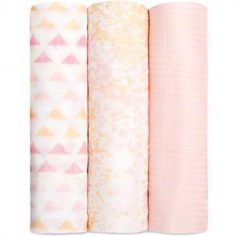 Lot de 3 maxi langes silky soft primrose birch (120 x 120 cm)