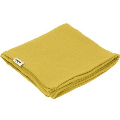 Lange en coton jaune moutarde (90 x 90 cm)  par BEBEL