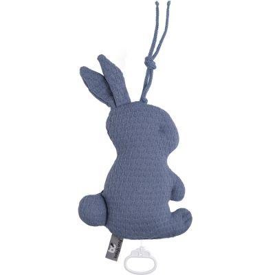 Peluche musicale lapin bleu foncé (30 cm)  par Baby's Only