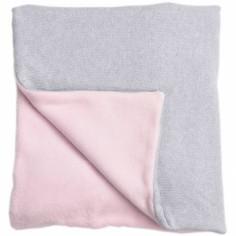 Couverture bébé en coton et polyester Perle de riz rose (100 x 140 cm)