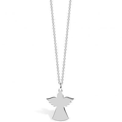 Collier chaîne 40 cm pendentif Spirit ange 15 mm (argent 925°)  par Coquine
