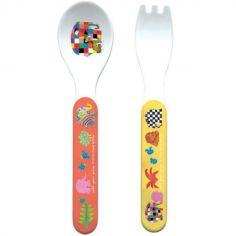 Cuillère + fourchette Elmer