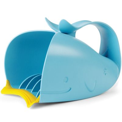 Rince-tête baleine Moby bleu et jaune  par Skip Hop
