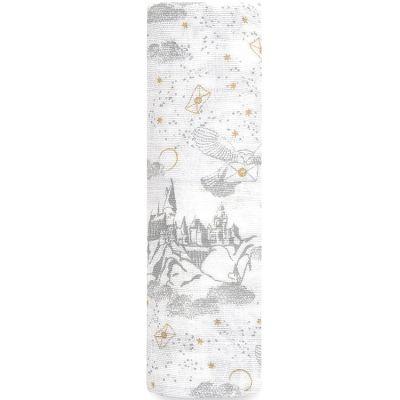 Maxi lange en mousseline de coton Harry Potter letters (120 x 120 cm)