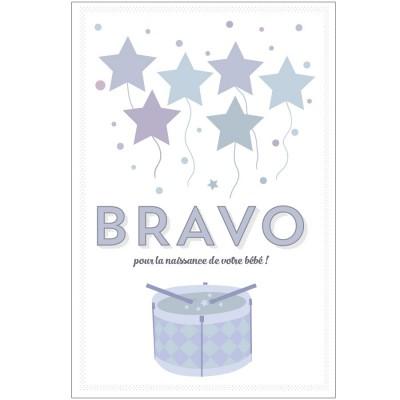 Carte de félicitations naissance Bravo  par A cause de toi !