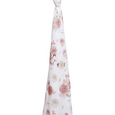 Maxi lange en coton Dahlias (120 x 120 cm)  par aden + anais