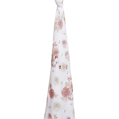 Maxi lange en coton Dahlias (120 x 120 cm)