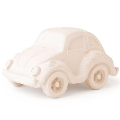 Petite voiture Coccinelle latex d'hévéa blanche  par Oli & Carol