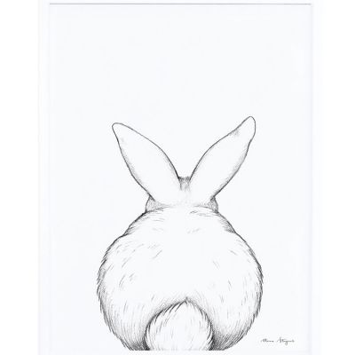 Affiche encadrée lapin de dos (30 x 40 cm)  par Lilipinso