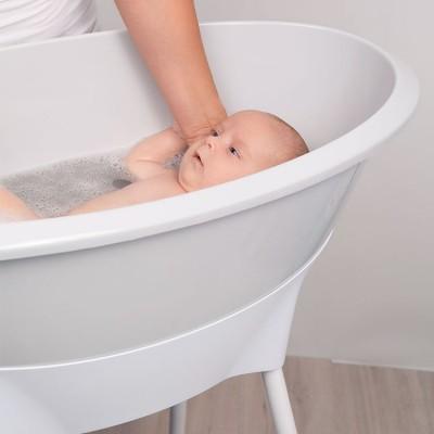 Baignoire Bebe Gris Clair Luma Babycare
