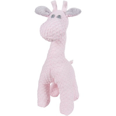 Peluche girafe debout Sun rose clair et rose (40 cm) Baby's Only