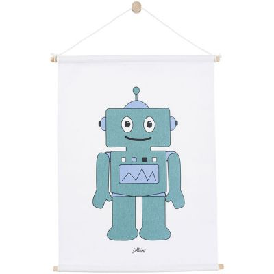 Affiche en tissu Robot bleu (42 x 60 cm)  par Jollein