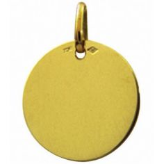 Médaille ronde unie à graver 16 mm (or jaune 750°)