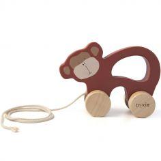 Jouet à tirer en bois singe Mr. Monkey