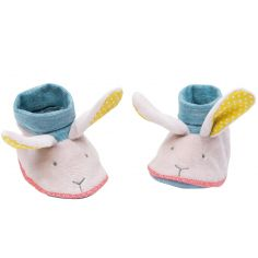 Chaussons de naissance lapin Mademoiselle et Ribambelle (0-6 mois)