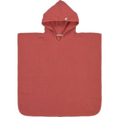 Poncho de bain en mousseline de coton bois de rose (12-36 mois)  par Lässig