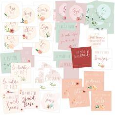 Cartes étapes de grossesse (40 cartes)