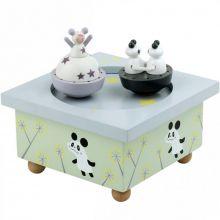 Boîte à musique magnétique Panda  par Trousselier