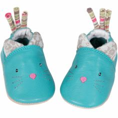 Chaussons cuir chat Les Pachats (6-12 mois)