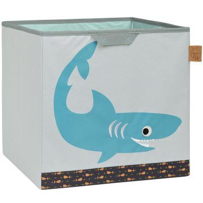 Cube de rangement jouets Requin océan (32,5 x 33,5 cm) Lässig