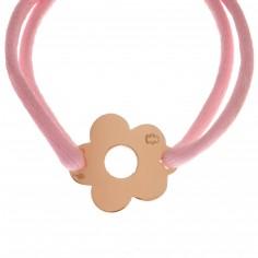 Bracelet cordon marguerite 15 mm (or jaune 750°)