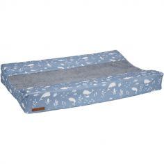 Housse de matelas à langer Ocean blue (44 x 72 cm)