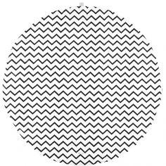 Tapis de parc Apache Zigzag noir (105 cm)