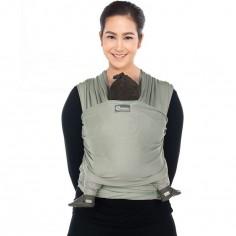 Echarpe de portage Tricot Slen vert d'eau
