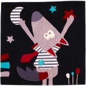 Tapis carré Mister Bouh (110 x 110 cm) - Sauthon Baby Déco