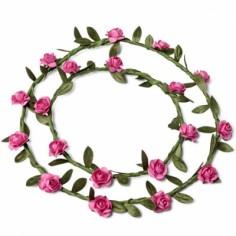 Couronnes de fleurs fuchsia (2 pièces)