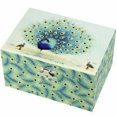 Boîte à bijoux musicale Paon