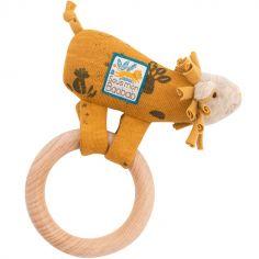 Hochet anneau en bois lion Sous mon baobab