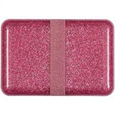 Lunch box à paillettes rose