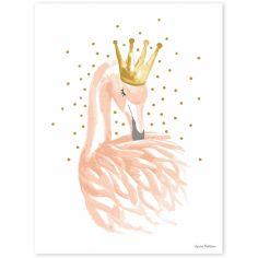 Affiche flamant rose Flamingo by Lucie Bellion (30 x 40 cm)