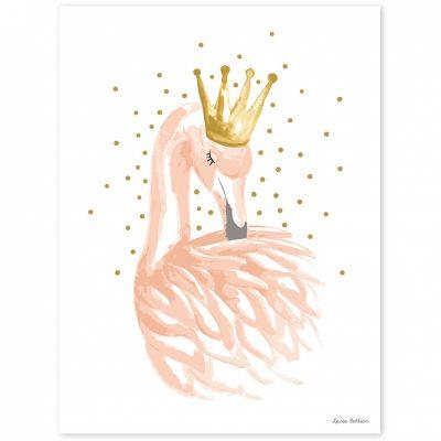 Affiche flamant rose Flamingo by Lucie Bellion (30 x 40 cm)  par Lilipinso
