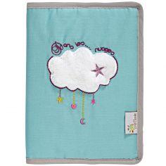 Protège carnet de santé en coton bio Dans les nuages