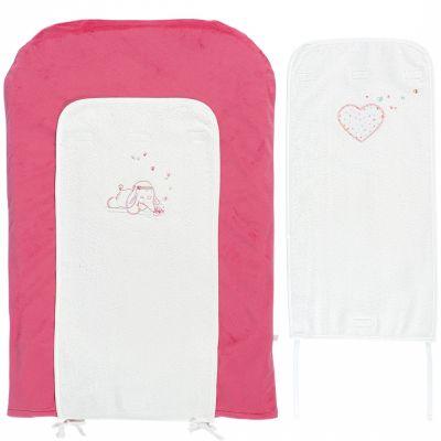 Matelas à langer avec 2 serviettes Anna et Pili (45 x 70 cm)  par Noukie's